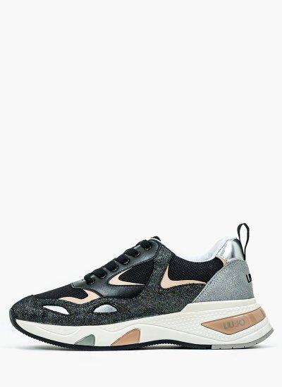 Women Casual Shoes Hoa.1 Black Leather LIU JO
