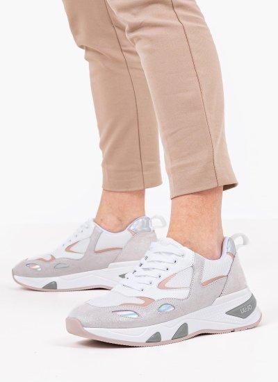 Women Casual Shoes Hoa.1 White Leather LIU JO