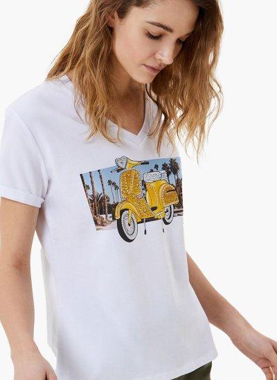 Women T-Shirts - Tops WA1329 White Cotton LIU JO