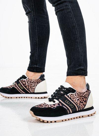 Women Casual Shoes Wonder.20 Leopard Leather LIU JO