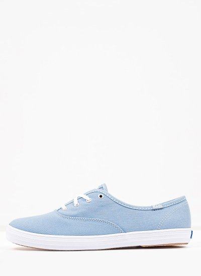 Women Casual Shoes WF64472 Blue Fabric Keds