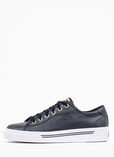 Women Casual Shoes WH64947 Black Leather Keds