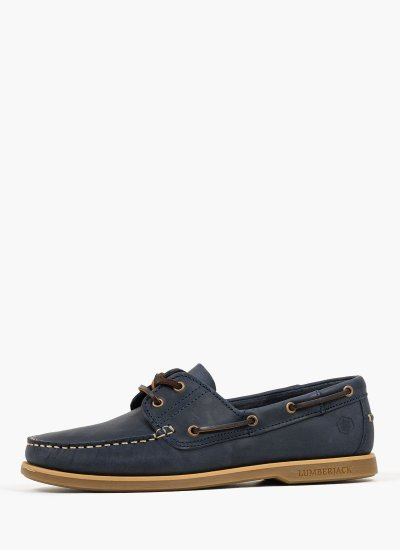 Men Sailing shoes Navigator.B Blue Nubuck Leather Lumberjack