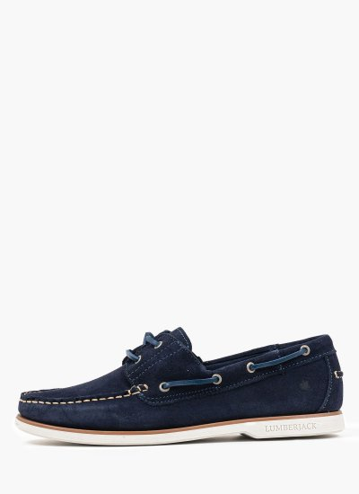 Men Sailing shoes Navigator Blue Suede Leather Lumberjack