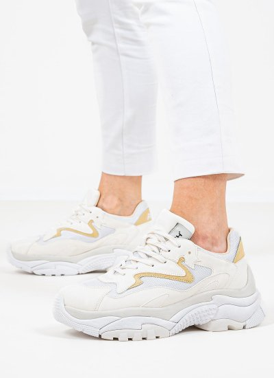 Women Casual Shoes Addict.211 White Nubuck Leather Ash