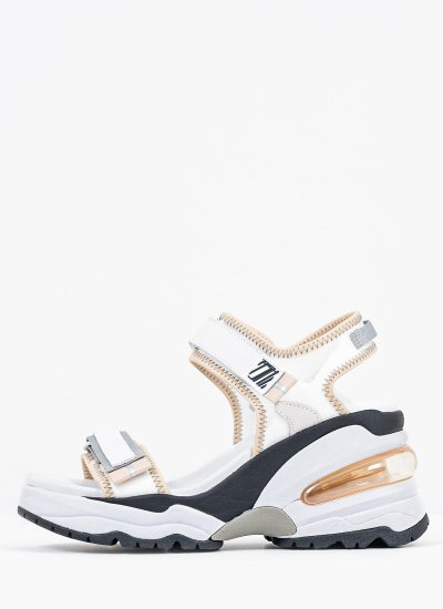 Women Platforms High Deep White Ash