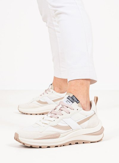 Women Casual Shoes Spider.N White Suede Leather Ash