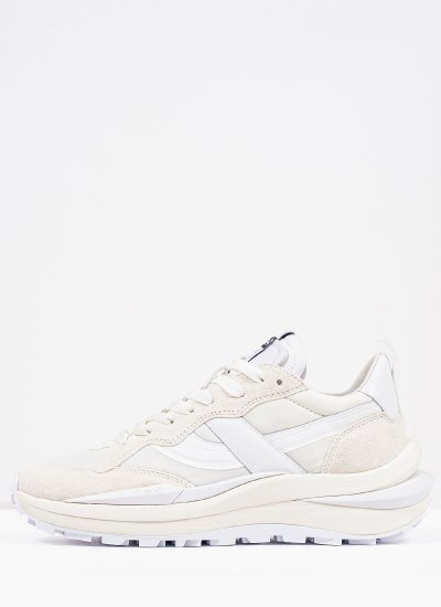 Women Casual Shoes Spider.W White Suede Leather Ash