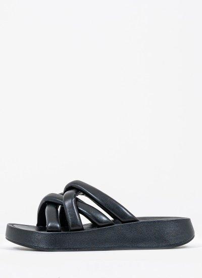 Women Sandals Low Vanessa Black Leather Ash