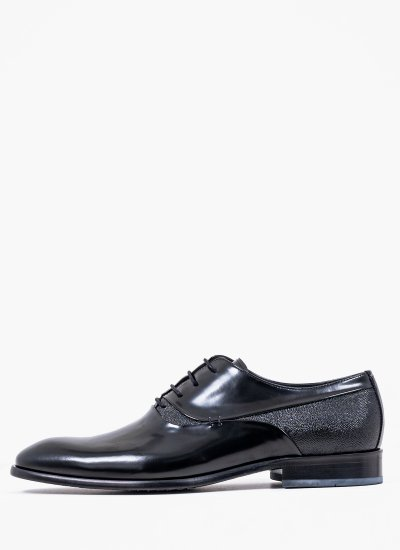 Men Shoes 4210 Black Leather Perlamoda