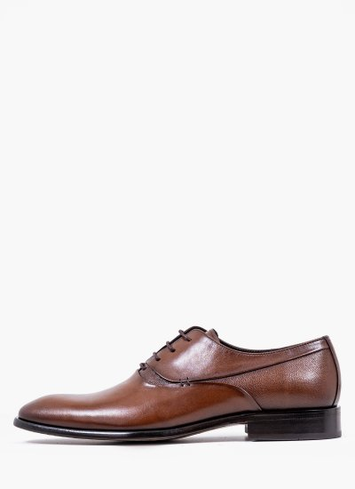Men Shoes 4210 Brown Leather Perlamoda