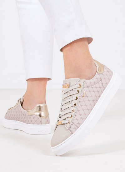 Women Casual Shoes Crista Beige Eco-Leather Mexx
