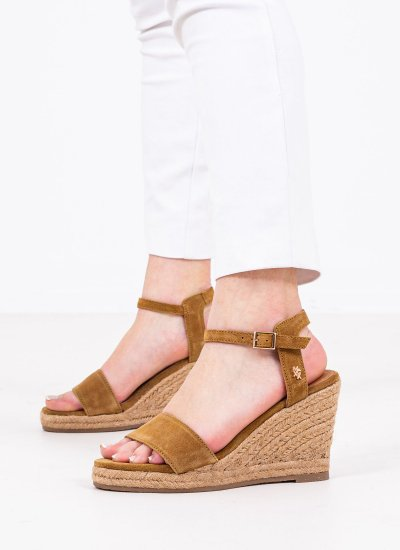 Women Platforms High Estelle Tabba Suede Leather Mexx
