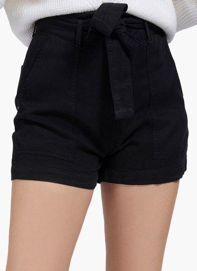 Women Skirts - Shorts Janna Black Cotton Guess