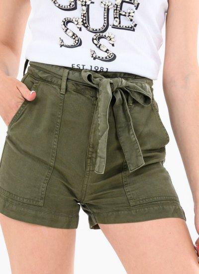 Women Skirts - Shorts Janna Green Cotton Guess