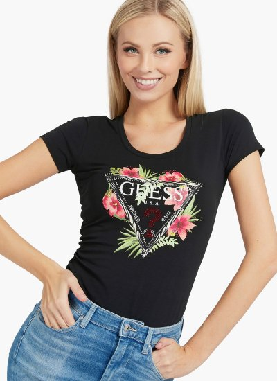 Women T-Shirts - Tops Rebecca Black Cotton Guess