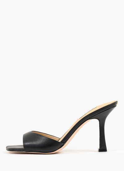 Women Mules Seala Black Leather Guess
