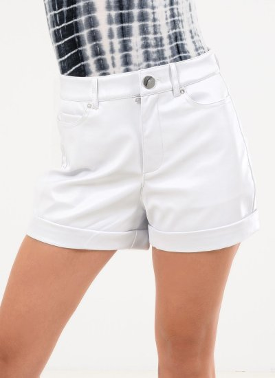 Women Skirts - Shorts Sidney White Polyester Guess