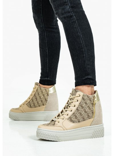 Women Casual Shoes Stivaletto Beige Eco-Leather Guess