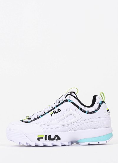 Women Casual Shoes Disruptor.A White Eco-Leather Fila