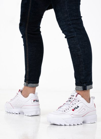 Women Casual Shoes Disruptor.V.Day White Eco-Leather Fila