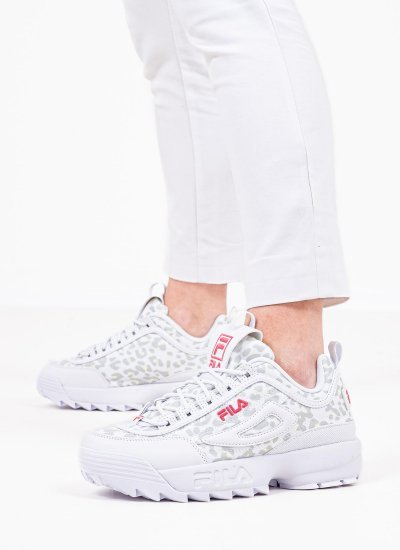 Women Casual Shoes Disruptor.Wmn White Eco-Leather Fila