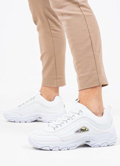 Women Casual Shoes Strada.A White Eco-Leather Fila