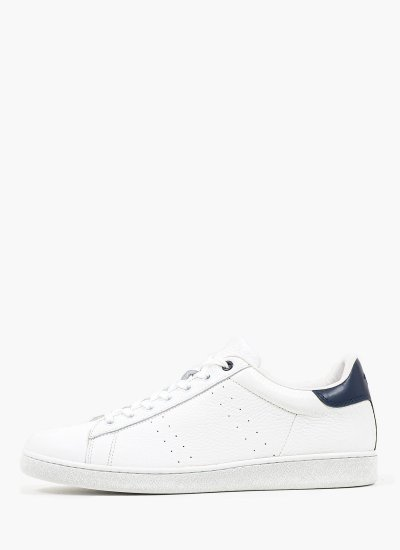 Men Casual Shoes 211001 White Leather Harmont & Blaine