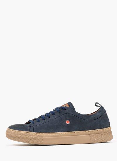 Men Casual Shoes 2372 Blue Nubuck Leather Robinson