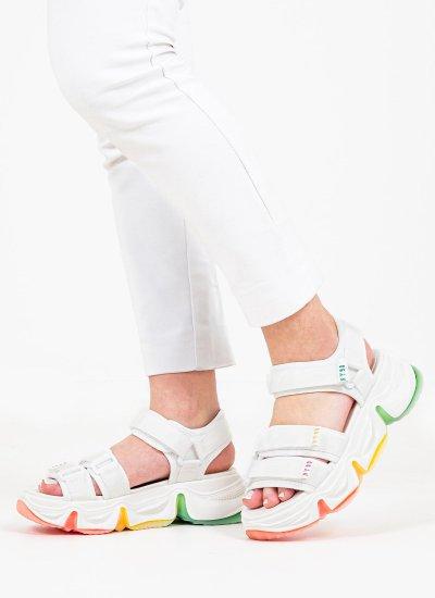 Women Sandals Low Chakra White Steve Madden