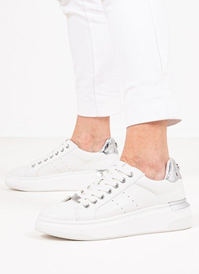 Women Casual Shoes Glacial White Eco-Leather Steve Madden