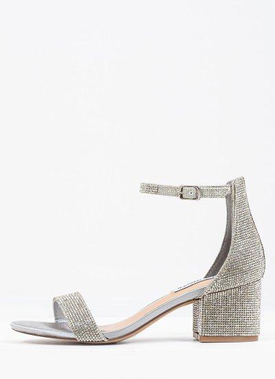 Women Sandals Low Irenee Silver Strass Steve Madden