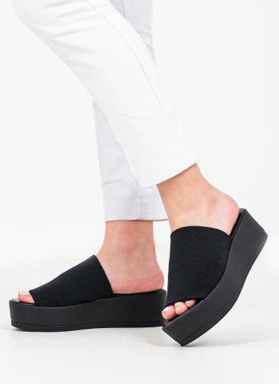 Women Platforms Low Slinky.Sandal Black Steve Madden