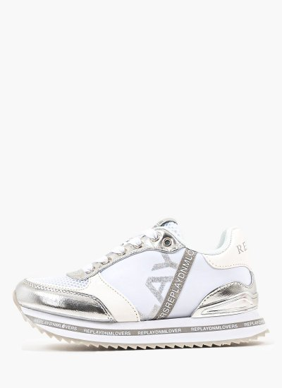 Kids Casual Shoes Dublin White Eco-Leather Replay