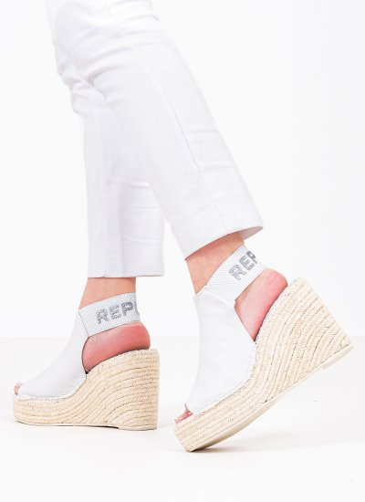 Women Platforms High RP4G0008S White Eco-Leather Replay