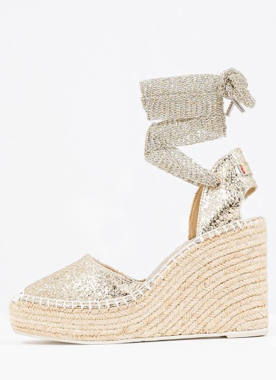 Women Espadrilles RP4G0015S Gold Eco-Leather Replay