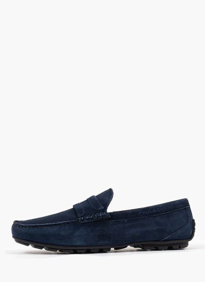 Men Moccasins 21418024 Blue Suede Leather Paul & Shark