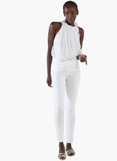 Women T-Shirts - Tops Etersburg White Nylon Silvian Heach