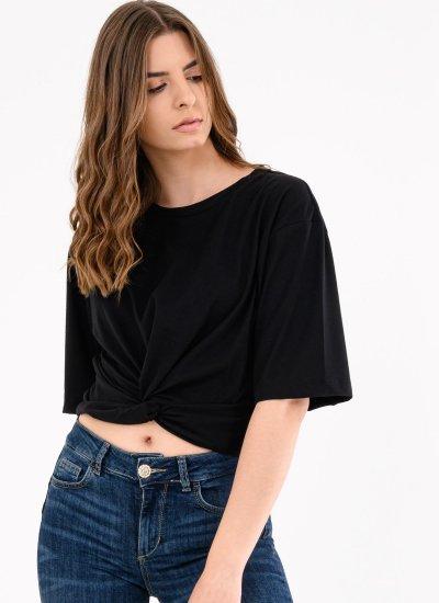 Women T-Shirts - Tops Mandy Black Polyester Silvian Heach