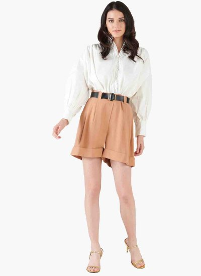 Women Skirts - Shorts Pensipa Brown Silvian Heach