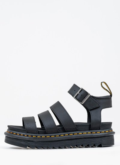 Women Platforms Low Blaire Black Eco-Leather Dr. Martens