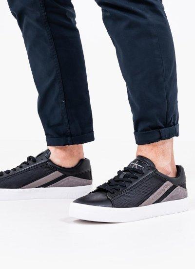 Men Casual Shoes Vulcanized Black Eco-Leather Calvin Klein