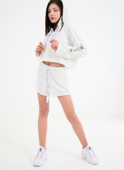 Women T-Shirts - Tops Active.Hoody White Cotton Kendall+Kylie