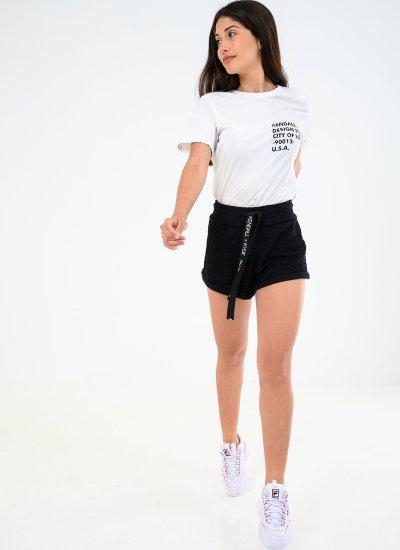 Women Skirts - Shorts Active.Shorts Black Cotton Kendall+Kylie