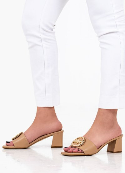 Women Mules Baya Nude Eco-Leather Kendall+Kylie