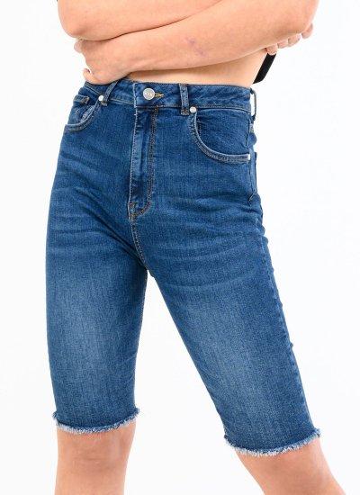 Women Skirts - Shorts Bermuda Blue Cotton Kendall+Kylie