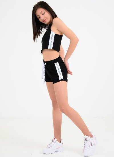 Women Skirts - Shorts Logo.Stripe Black Kendall+Kylie