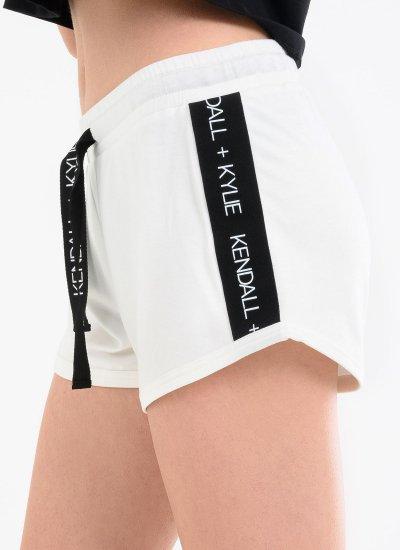 Women Skirts - Shorts Logo.Stripe White Kendall+Kylie