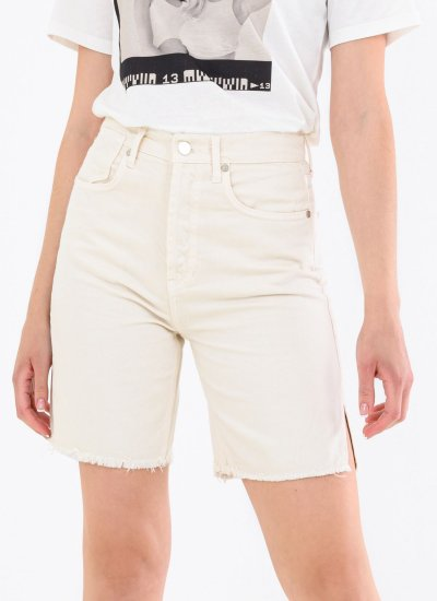 Women Skirts - Shorts Loose White Cotton Kendall+Kylie