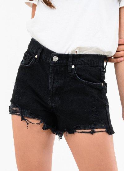 Women Skirts - Shorts Mini.Shorts Black Cotton Kendall+Kylie